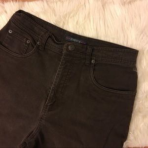 vintage chocolate brown high waisted jeans